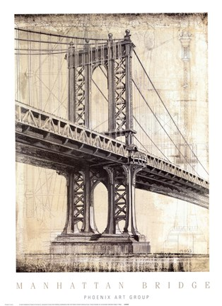 Framed Manhattan Bridge Print