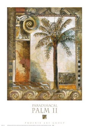 Framed Paradisiacal Palm II Print