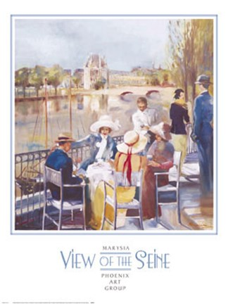 Framed View of the Seine Print