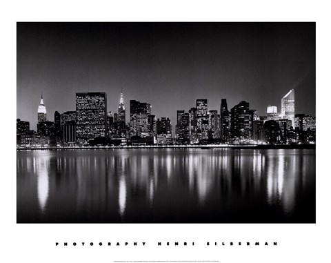 Framed New York, New York, Manhattan East Side Print