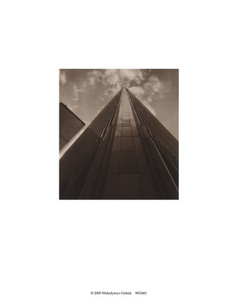 Framed Angled View Twin Towers Print