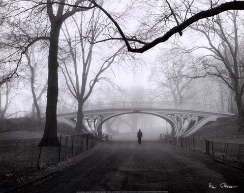 Framed Gothic Bridge, Central Park, NYC Print