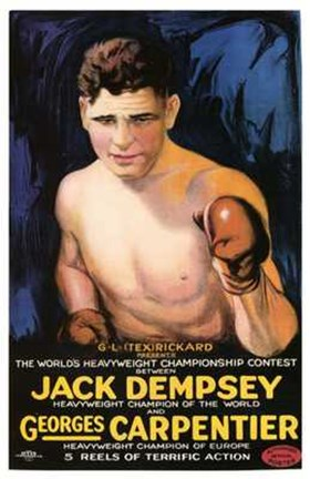 Framed Jack Dempsey Vs Georges Carpenter Print