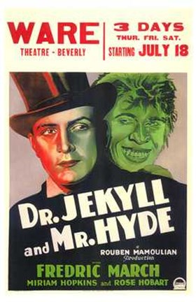 Framed Dr Jekyll and Mr Hyde Theatre Print