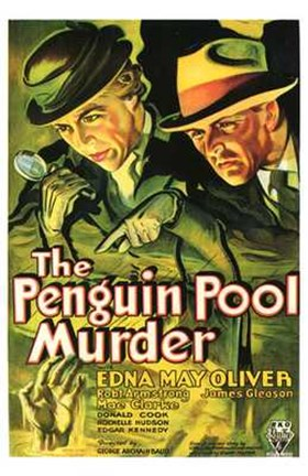 Framed Penguin Pool Murder Print