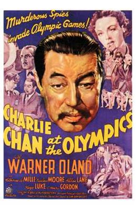 Framed Charlie Chan At the Olympics Print