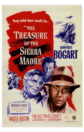 Framed Treasure of the Sierra Madre - Characters Print