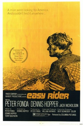 Framed Easy Rider A Man Went Looking for America Print