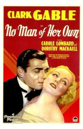 Framed No Man of Her Own With Dorothy Mackall Print