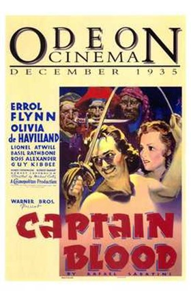 Framed Captain Blood 1935 Print