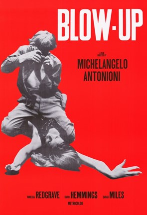 Framed Blow Up Red Michelangelo Antonioni Print