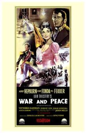Framed War and Peace - tall Print
