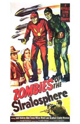 Framed Zombies of the Stratosphere Movie Poster Print