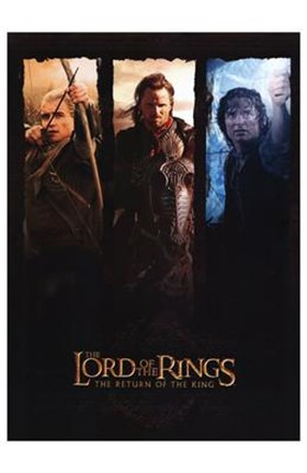 Framed Lord of the Rings: Return of the King Legolas Aragorn Frodo Print