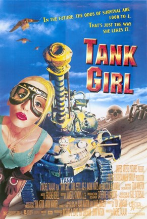 Framed Tank Girl Film Print