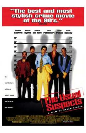 Framed Usual Suspects - 5 men Print