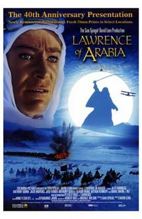 Framed Lawrence of Arabia 40th Anniversary Print