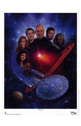 Framed Star Trek: The Next Generation Print