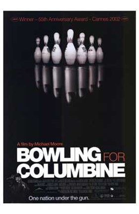 Framed Bowling for Columbine Film Print