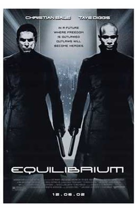 Framed Equilibrium Black and White Print