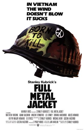 Framed Full Metal Jacket Vietnam Print