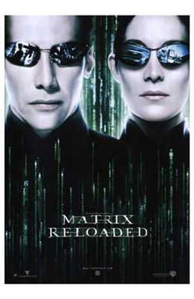 the matrix reloaded neo and trinity wall poster by unknown at