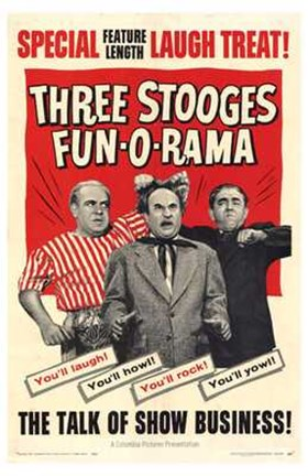 Framed Three Stooges Fun-O-Rama Print