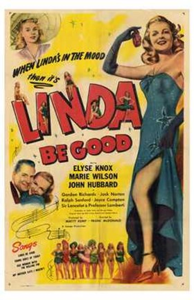 Framed Linda Be Good Print