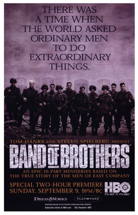 Framed Band of Brothers Extraordinary Things Print