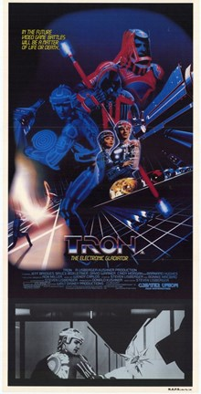 Framed Tron with Movie Scene Print