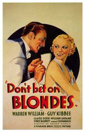 Framed Don't Bet on Blondes Print