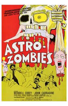 Framed Astro-Zombies Print