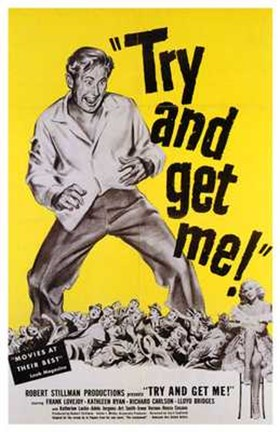 Framed Try and Get Me! movie poster Print