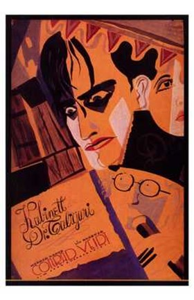 Framed Cabinet of Dr Caligari - orange Print