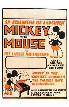 Framed Mickey the Mouse Print