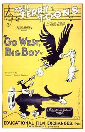 Framed Go West  Big Boy Print