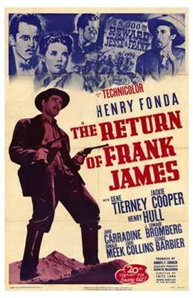 Framed Return of Frank James Print