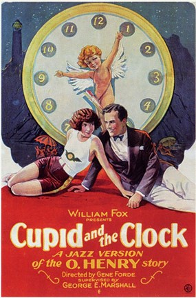 Framed Cupid and the Clock Print