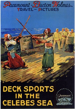 Framed Deck Sports in the Celebes Sea Print