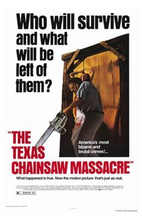 Framed Texas Chainsaw Massacre Who Will Survive Print