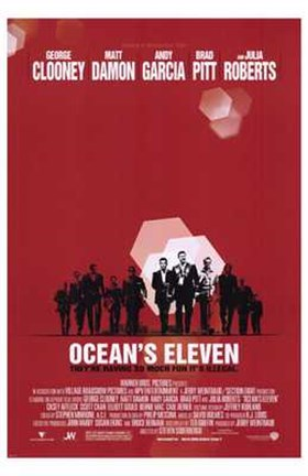 Framed Ocean's Eleven - red Print