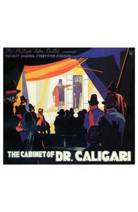 Framed Cabinet of Dr Caligari - dark Print