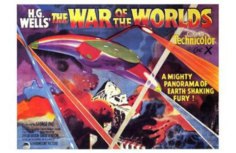 Framed War of the Worlds H.G. Wells Print
