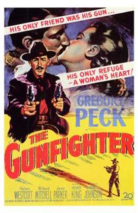 Framed Gunfighter Gregory Peck Print