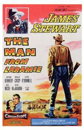 Framed Man from Laramie Western Print