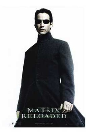 The Matrix Reloaded Keanu Reeves As Neo Wall Poster By