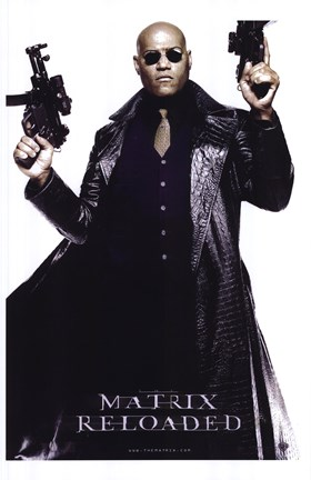 the matrix reloaded laurence fishburne as morpheus wall poster by