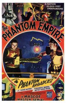 Framed Phantom Empire Phantom Broadcast Print