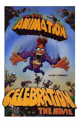 Framed 4Th Animation Celebration the Movie Print