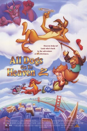 Framed All Dogs Go to Heaven 2 Print